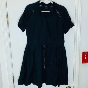 Mossimo Black Drawstring Shirtdress. Size XL